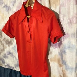 Tops - Women's vintage red blouse